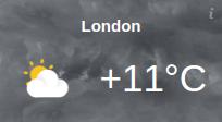 Responsive Weather Widget Temperature London