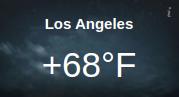 Responsive Weather Widget Temperature Los Angeles